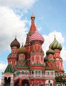 St może katedry na plac czerwony w moskwie — Zdjęcie stockowe