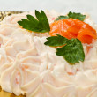 Stock Photo: Creamy salmon mousse pie