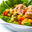 Tuna salad with mais — Stock Photo