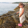 Little fisher girl — Stock Photo
