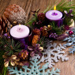 Christmas candle  — Stock Photo #34921535