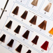 Locks of hair dyed in various shade — Stock Photo