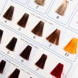 Locks of hair dyed in various shade — Stok fotoğraf