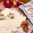 Cookies dough homemade for Christmas  — Stock Photo