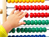 Colorful toy abacus to learn counting — Stock Photo