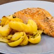 Salmon fillets with potatoes — Stock Photo #37760077