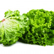 Bunch of fresh green salad isolated over white — Stock Photo
