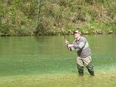 Fisherman on river  — Stock Photo