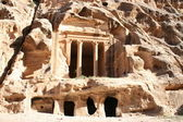 The Treasury in the ancient Jordanian city of Petra, Jordan. — Stock Photo