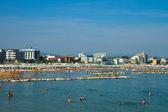Coast and beach of Cattolica on riviera romagnola, Italy  — Stock Photo
