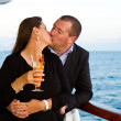 Couple Enjoying a Cruise Vacation — Stock Photo #50643525