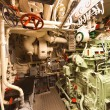 German world war 2 submarine type VIIC/41 - diesel engine compar — Stock Photo