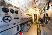 德国第二次世界大战潜艇-电动引擎室 — 图库照片