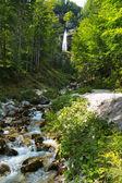 Pericnik waterfall in Julian Alps in Slovenia — Stock Photo