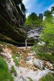 Waterfall in Julian Alps in Slovenia — Stock Photo