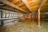 Inside of old rural barn in Poland XIXth century — Stock Photo