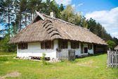 Old rural house with thatched roof — Stock Photo