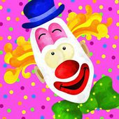 Clown face — Stock Photo