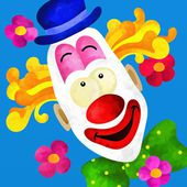 Colorful clown face — Stock Photo