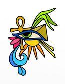Egyptian symbols — Stock Photo