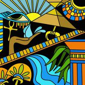 Símbolos egipcios — Foto de Stock
