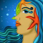 Mermaid in the ocean — Stock Photo