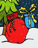 Kerstmis zak — Stockfoto