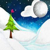 圣诞景观 — 图库照片