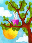 Hot cup of tree — Foto de Stock