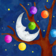 Christmas moon — Stock Photo
