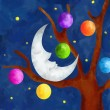 Stock Photo: Christmas moon