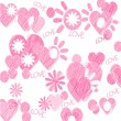 Pink hearts — Stock Photo #33592445