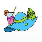 Sombrero y bebida — Foto de Stock