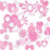 粉红色的心 — 图库照片