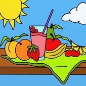 Batido de frutas — Foto de Stock