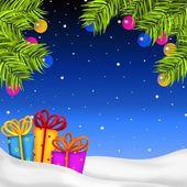 クリスマスの夜背景 — ストック写真