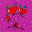 Hearts and gifts — Stock Photo #36750567