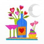 Wine and love — Stock Photo #40549559