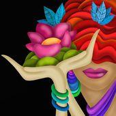 Blomma i handen — Stockfoto