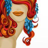 Kvinna med rött hår — Stockfoto