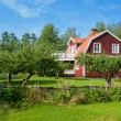 Picturesque wooden house in Sweden — Stock Photo