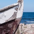 Prow of an old wooden boat Prow of an old wooden boat — Stock Photo