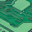 Printed green computer circuit board — Stock Photo