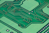 Printed green computer circuit board — 图库照片