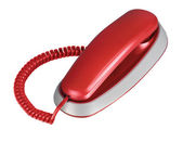 Red office telephone — Stock Photo