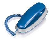 Blue office telephone — Stock Photo