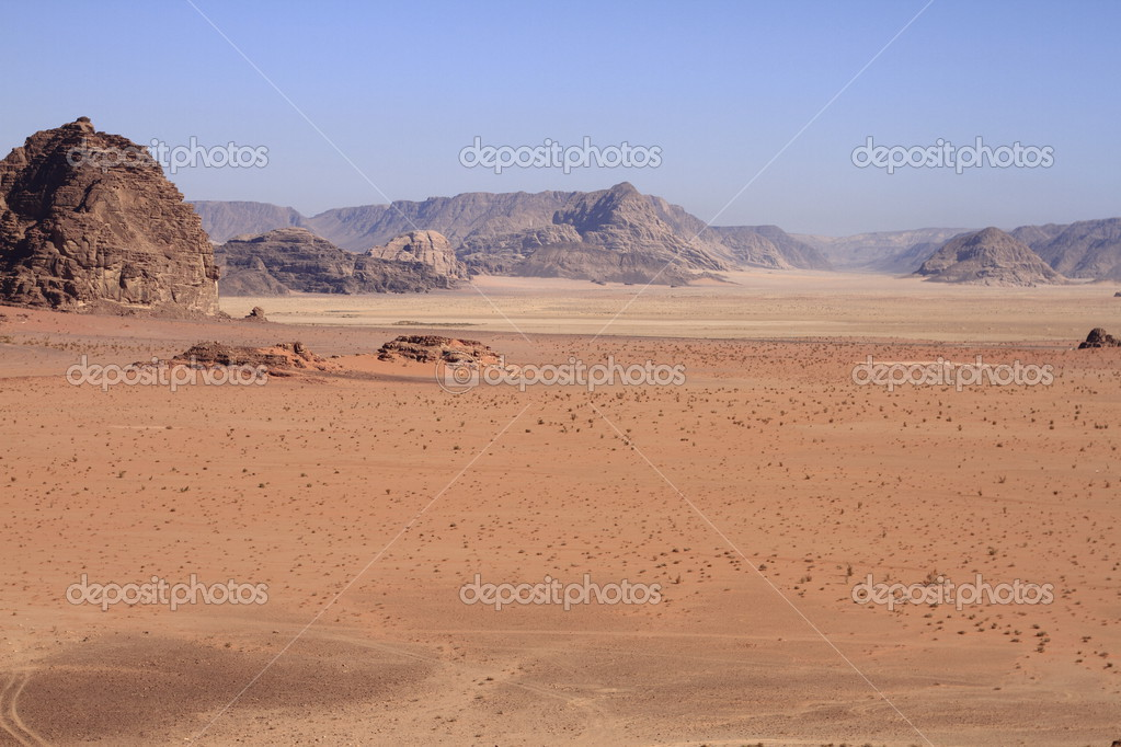 The Wadi Rum is the largest wadi in Jordan.  Stock Photo #13114964