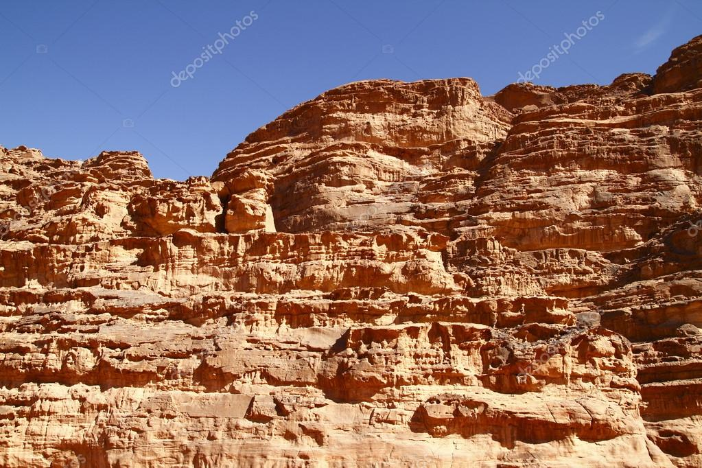 The Wadi Rum is the largest wadi in Jordan.  Stock Photo #13118830