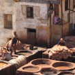 Tanneries in Fes — Stock Photo