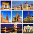Impressions of European Landmarks — Stock Photo
